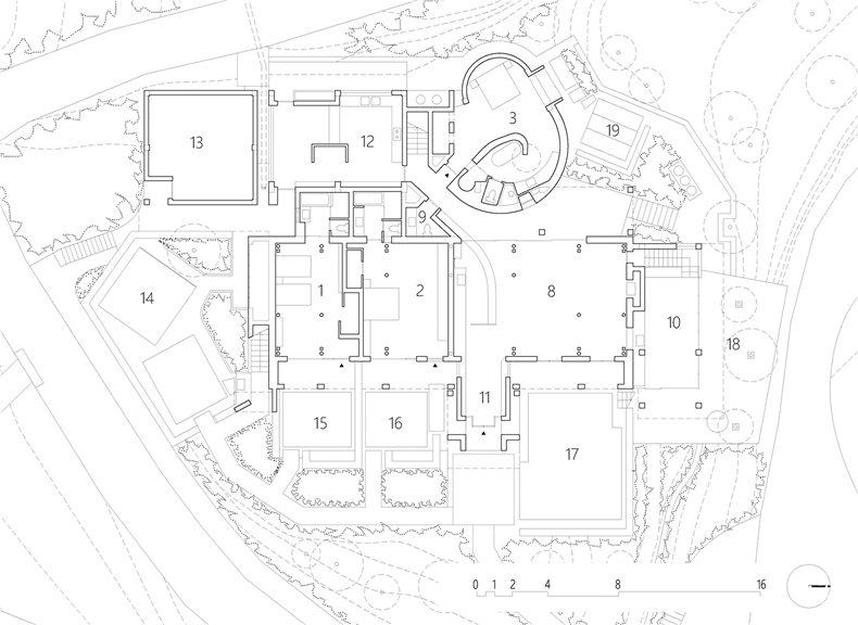 别墅圆形楼梯平面图